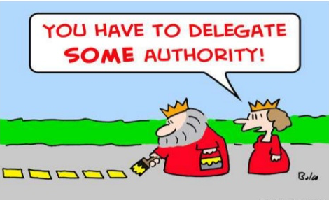 How to delegate authority