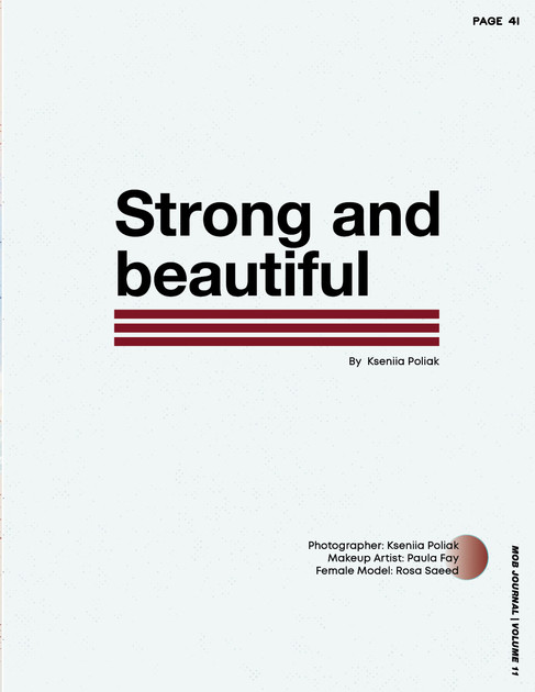 Strong and Beautiful - The Mob Journal