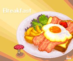 Breakfast and mushrooms