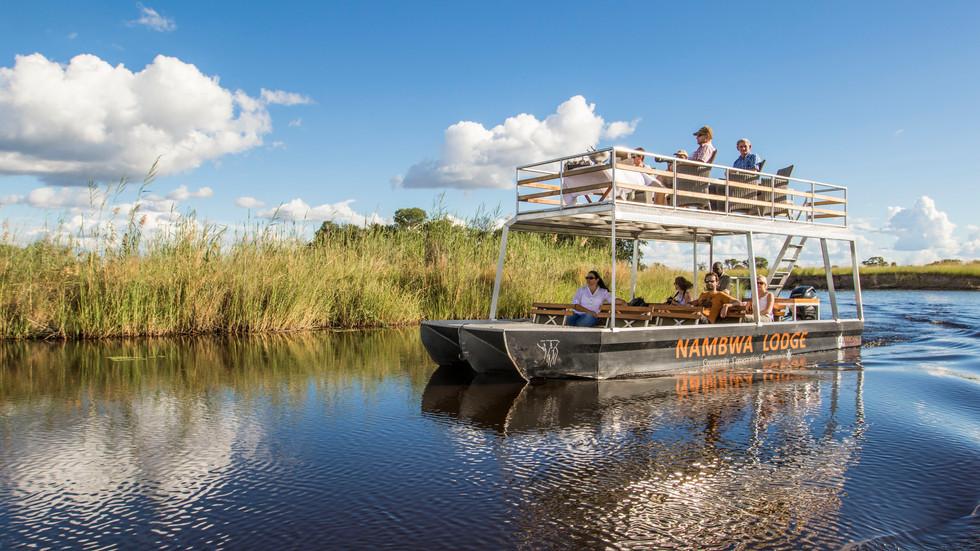 Boat safaris accessing wetlands teeming with wildlife
