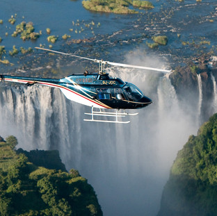 Helicopter ride over the Victoria Falls