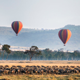 Hot Air Balloon above the Maasai Mara