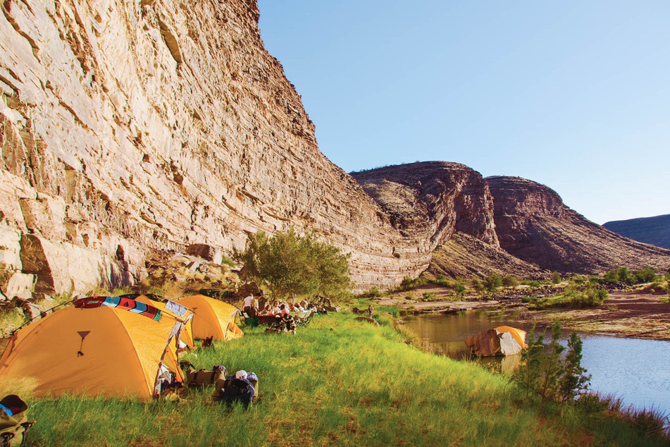 Camp in spectacular settings in the Fish River Canyon