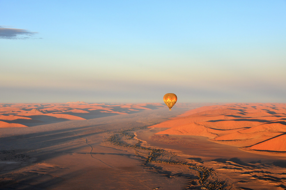 Take a hotair balloon ride over the Namib Desert