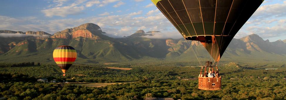 Hotair balloon safari