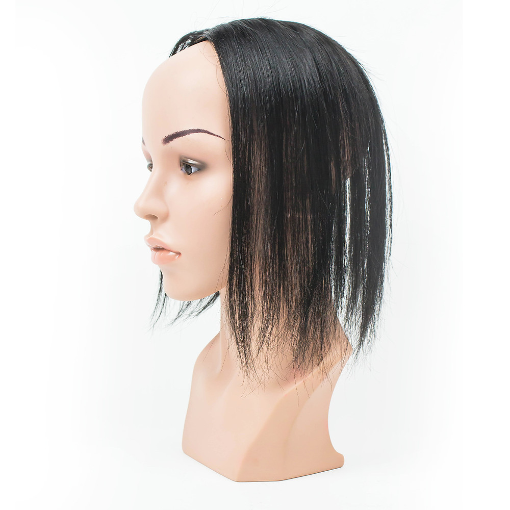 Black long toupee in Female Mannequin head