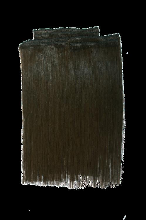 "Keira Human Hair Extensions Shoulder Length 12"" Full Head Set, Natural Colors"