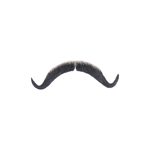 Borat Synthetic Mustache - Black