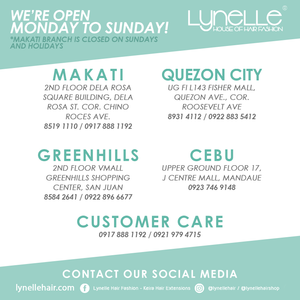 list of branches for lynelle hair
