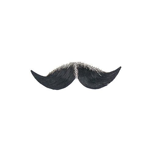 Cowboy Synthetic Mustache - Black