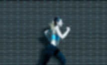 stock image woman running
