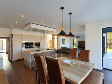 Open plan kitchen, dining and living space design ideas