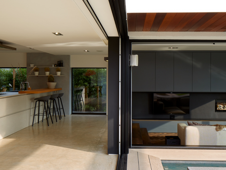 A luxury residential inside / outside space