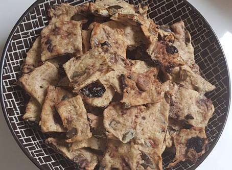 Apéro | crackers olives et graines de courges