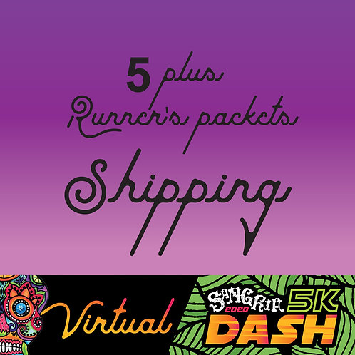 Shipping for Pre-registered Sangria 2020 Dash - 5+ packets