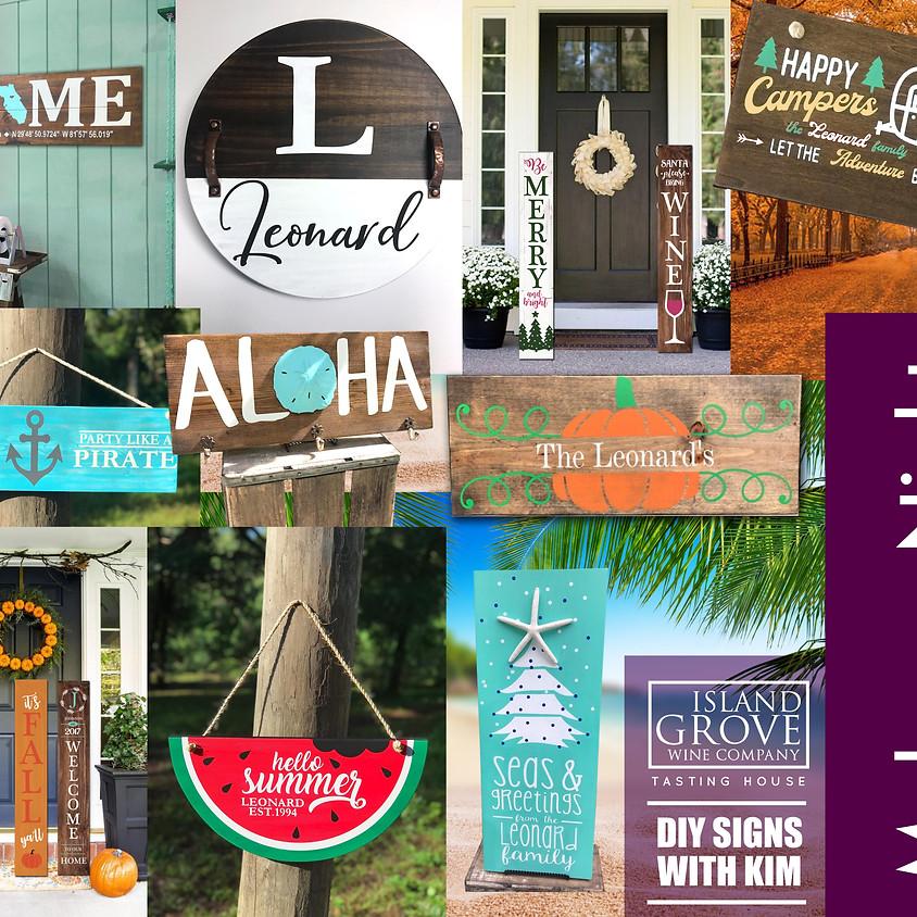 Art Night @ Island Grove Wine Company Tasting House September 27