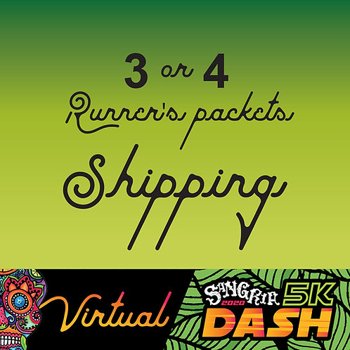 Shipping for Pre-registered Sangria 2020 Dash - 3 or 4 packets