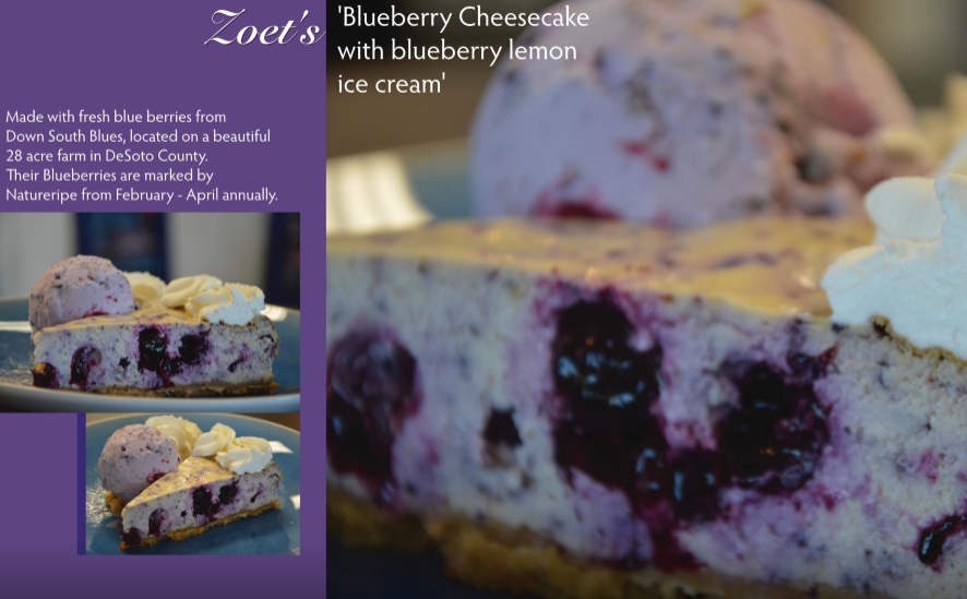 Blueberry Cheescake with blueberry lemon ice cream