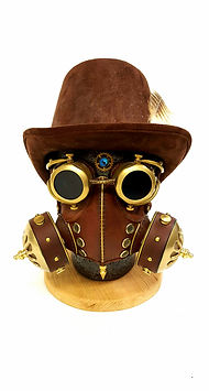 83seats leather brass steampunk mask goggles