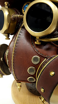 leather brass steampunk mask goggles 83seats