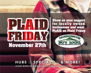 Red plaid shirt with date of Plaid Friday, November 27th, 2015