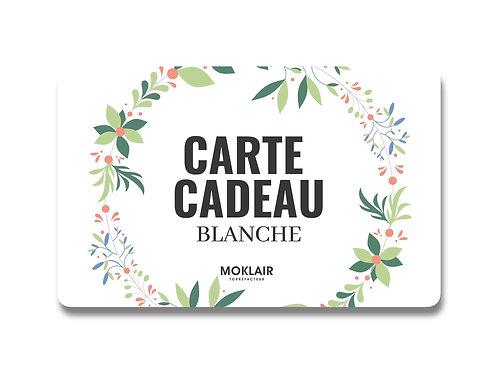 CARTE CADEAU BLANCHE
