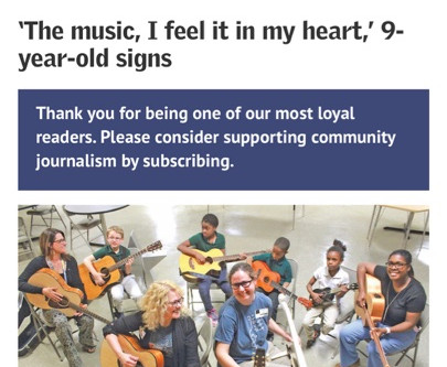 Nonprofit gives deaf students the gift of music