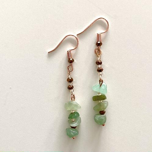Aventurine Crystal Beaded Earrings