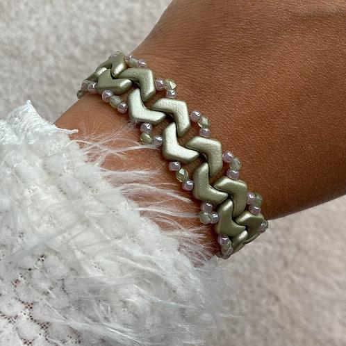 Handmade Boho Chevron Beaded Bracelet
