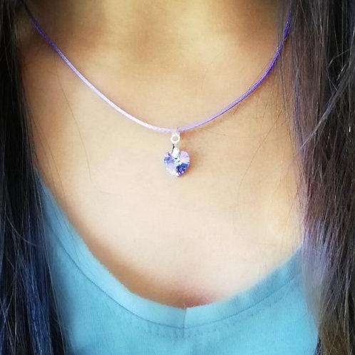 Swarovski Heart on Cord Necklace