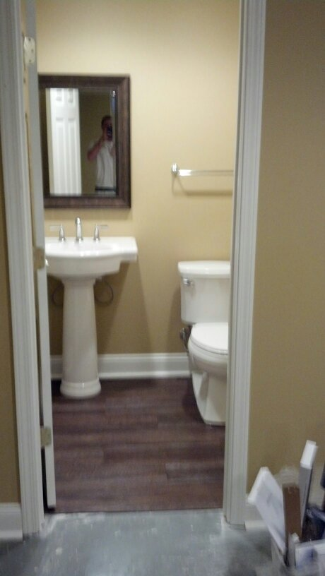 New bathroom installation.