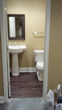 New bathroom installation.