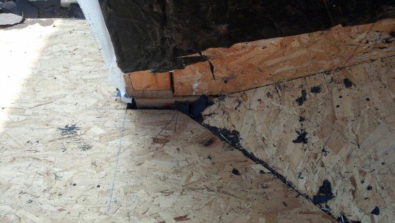 Roof leak. Bad design.