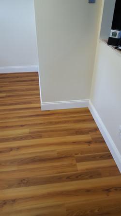 New vinyl flooring.