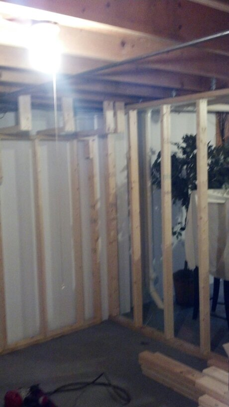 Basement framing.