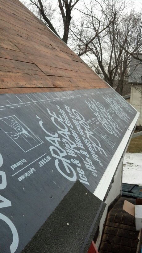 Roof ice and water shield. Ice guard