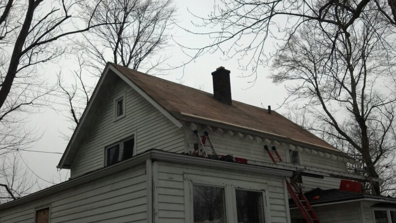 Roof tear off.
