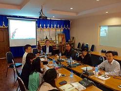 タイの大学へのプレゼンテーション