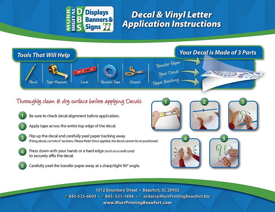 195378 Murr Printing Vinyl Letter Applic
