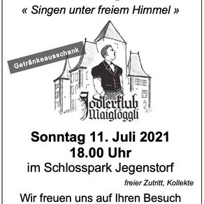 """Schloss Jegenstorf """"Singen unter freiem Himmel"""""""