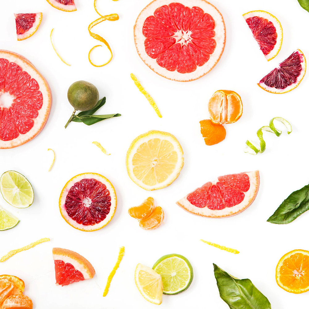 Healthy citrus fruits