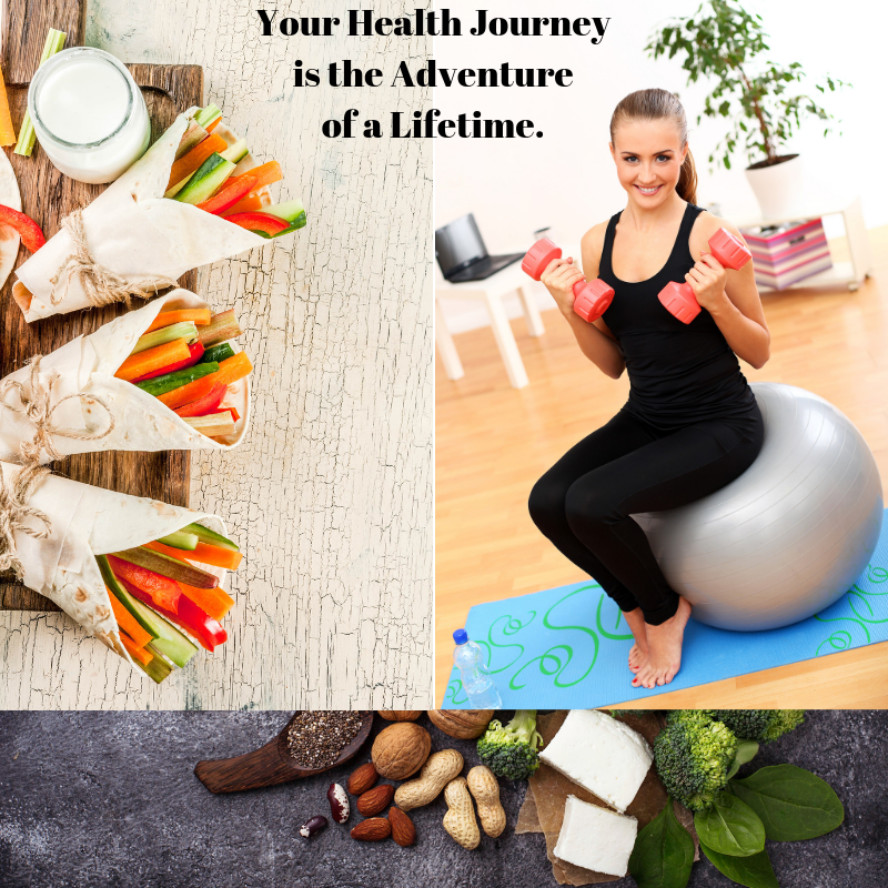 Healthy food and fitness as a health journey
