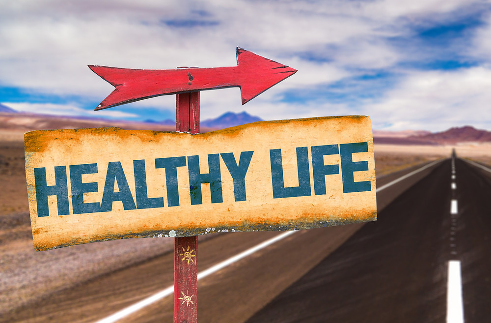Healthy life sign as the start of your health journey