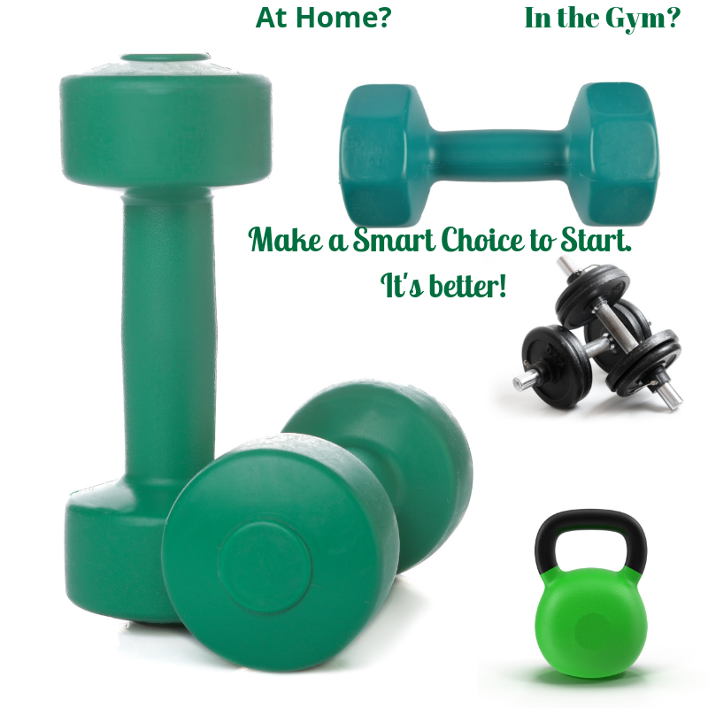 Weights for home or gym fitness.