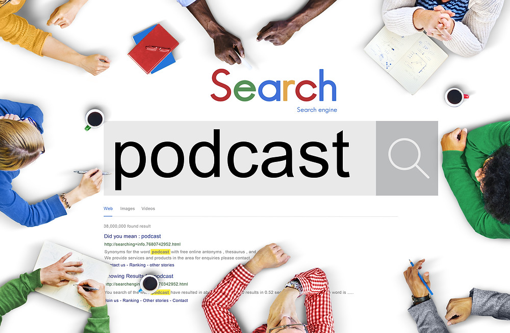 Search field about podcasts