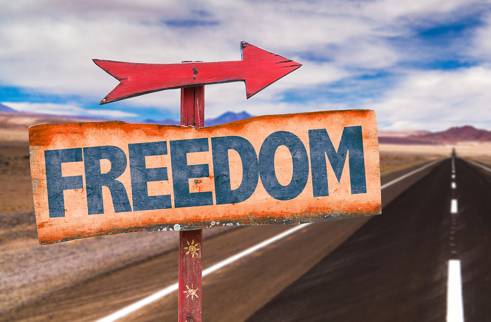 Your health journey leads you to freedom: freedom sign