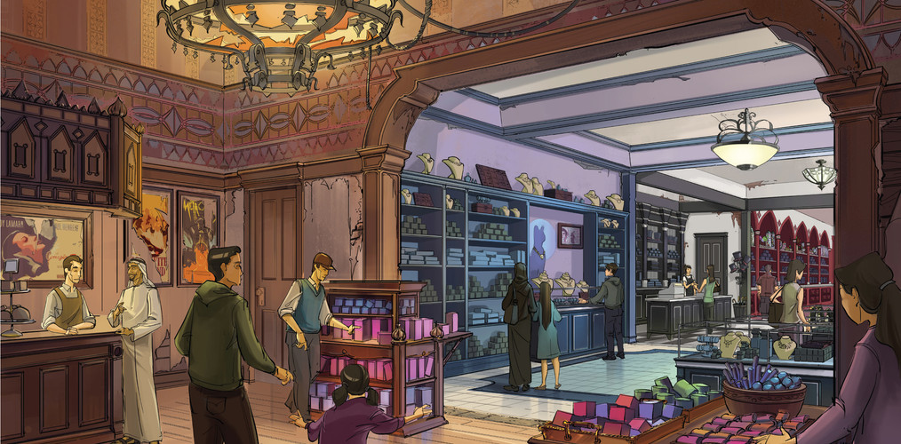 Gotham Souvenirs Retail - Warner Bros Theme Park