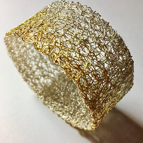 Sterling silver and gold plated cuff