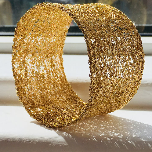 Gold plated sterling silver cuff
