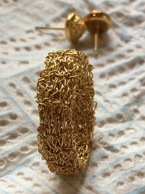 Gold plated sterling silver ring